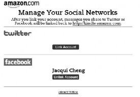 Aggiornamento Kindle - versione 2.5 con integrazione di Twitter e Facebook