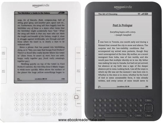 Confronto Kindle 2 con la nuova versione (Kindle 3?)