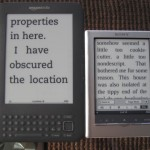 Sony PRS-350, Kindle 3 Wifi, font large a confronto