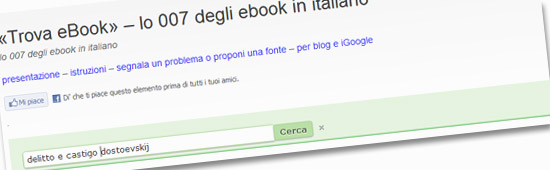 «Trova eBook», lo 007 degli ebook in italiano
