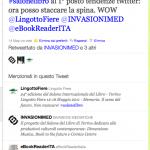 Il Salone del libro al 1° posto su Twitter