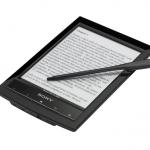 Sony Reader Wi-Fi PRS-T1 - stylus in evidenza