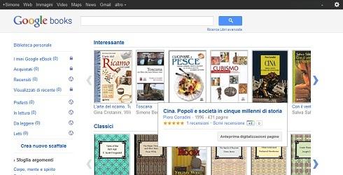 Google Books e la nuova interfaccia