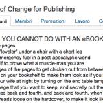 10 cose che NON puoi fare con un ebook