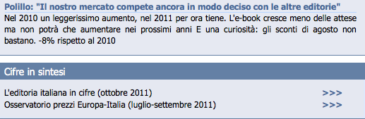 Diamo i numeri sul mercato ebook ITA 2010