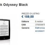 Bookeen Cybook Odyssey in vendita nei negozi italiani