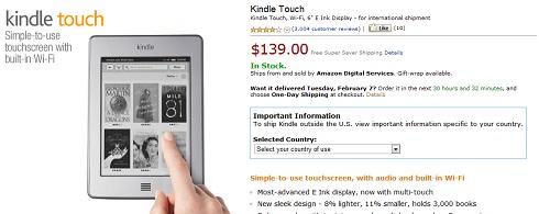 Passaporto internazionale per il Kindle Touch