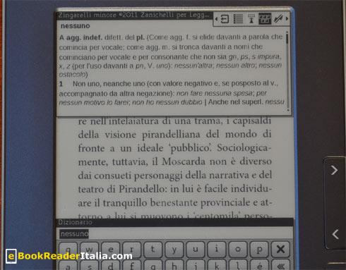 LeggoIBS PB612: ricerca di una parola sul dizionario