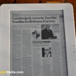 Una pagina di un quotidiano in formato Pdf - dimensioni A4