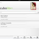Cubolibri: la biblioteca virtuale con gli ebook acquistati o caricati da iTunes
