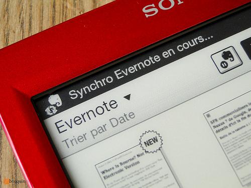 Il Sony PRS-T2 supporta il servizio cloud Evernote