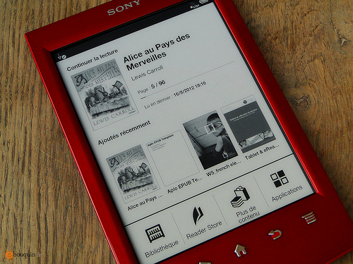 Sony PRS-T2: la nuova home page