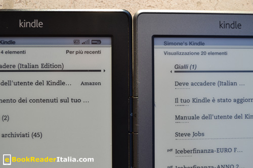 Amazon Kindle: edizione 2012 e 2011 a confronto