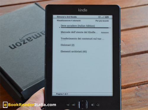 Amazon Kindle edizione 2012