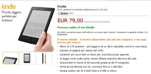 """Il nuovo Kindle """"base"""" italiano"""