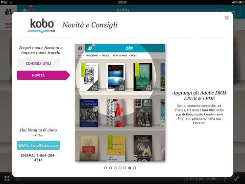 Kobo per iPad e il supporto ai DRM Adobe