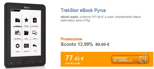 TrekStor Pyrus in offerta su Marcopolo.it