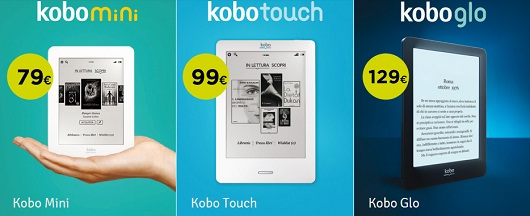 Kobo Mini - Kobo Touch - Kobo Glo