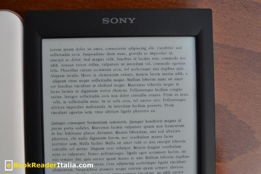 Sony PRS-T2: visualizzazione di testo con il corpo carattere più piccolo