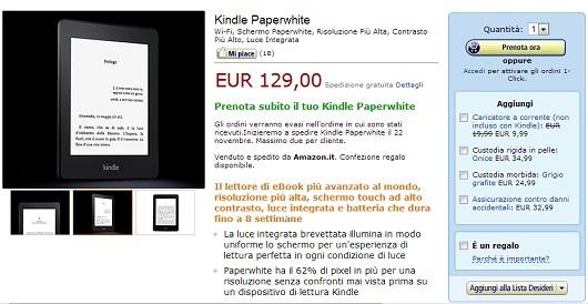 56fee74100cbe8 Il Kindle PaperWhite è arrivato in Italia | eBookReader Italia