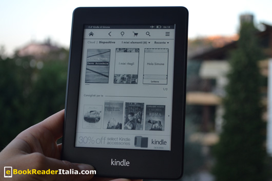 La home screen del Kindle PaperWhite