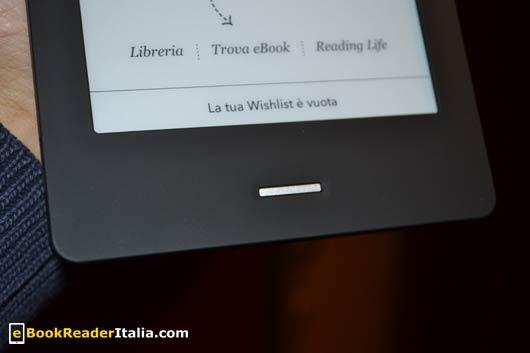 Kobo Touch: il tasto per tornare in home screen