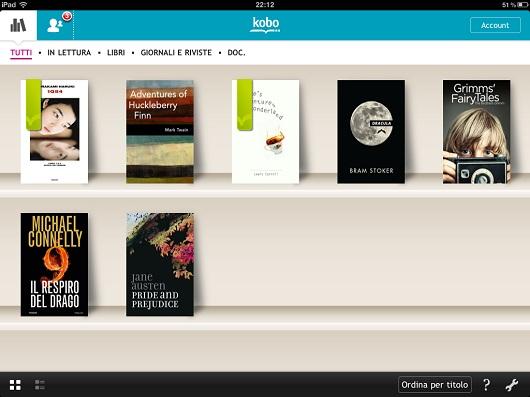 App Kobo eReading per iPad