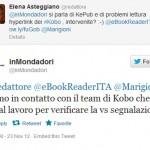 Qualche tweet della sicussione tra noi e @InMondadori
