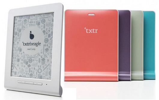 La cover multicolore posteriore del Txtr Beagle