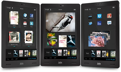 Kobo Arc, tablet Android con schermo da 7 pollici
