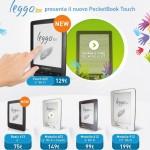 La gamma dei lettori ebook di IBS. I nuovi modelli 2013 sono il LeggoIBS Touch 622 e LeggoIBS Basic 613