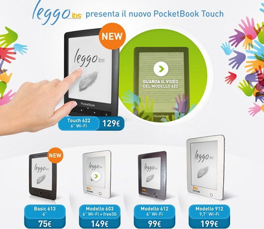 Da Ibs due nuovi ebook reader da 6 pollici