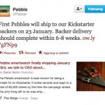 Pebble, il 23 gennaio prime spedizioni dell'orologio smart con schermo e-paper
