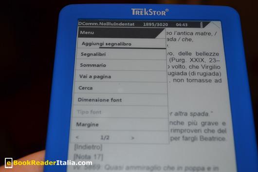 TrekStor Pyrus Mini: impostazioni di lettura