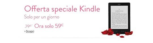 Solo per oggi lunedì 4 febbraio 2013 Kindle costa 59 euro