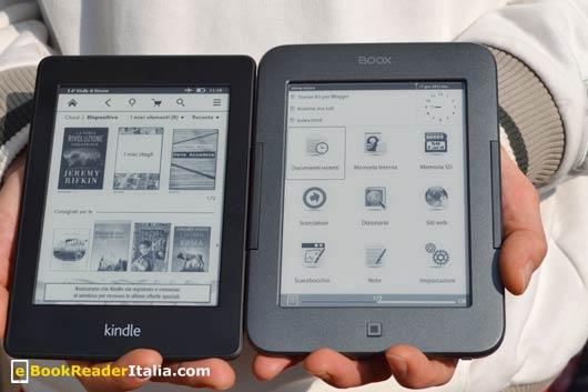 Onyx Booxi62 HD FireFly e Kindle PaperWhite a confronto