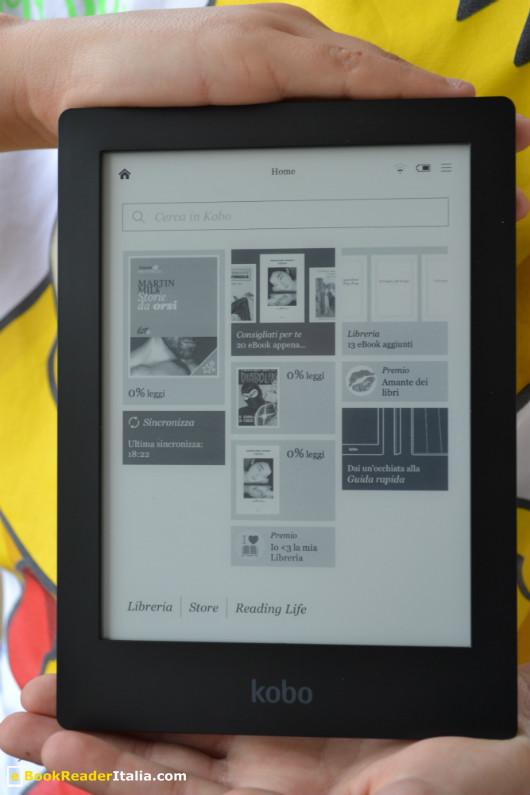 Kobo Aura HD, pagina principale