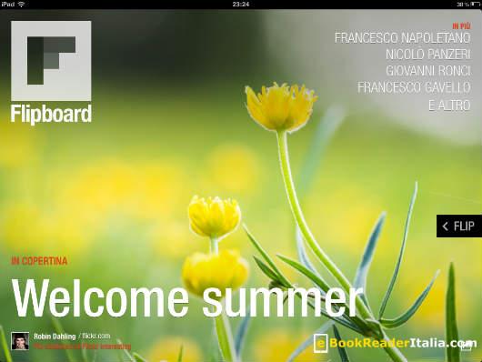 La home page di Flipboard per iPad