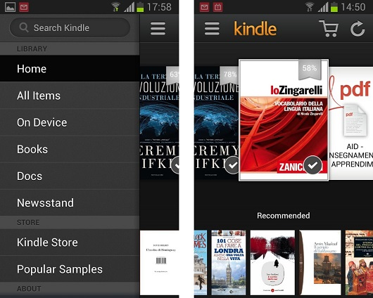 Kindle App per Android