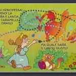 Una pagina dell'ebook La Principessa Azzurra e il Drago Golosone