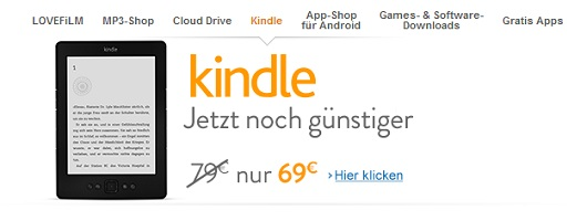 Kindle, prezzo ribassato in Germania