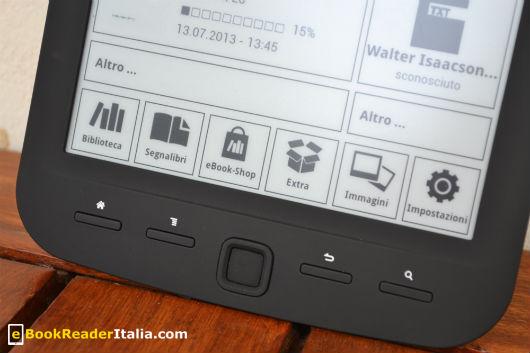 TrekStor Pyrus Maxi: i tasti funzione sotto lo schermo e-ink