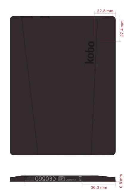 L'unica immagine ufficiale del Kobo N514