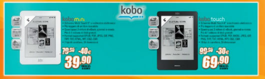 Kobo Mini e Kobo Touch in offerta