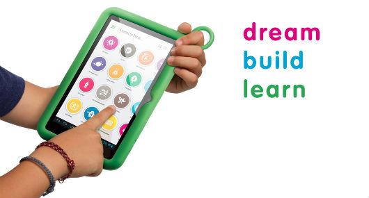 XO Tablet, pensato per i bambini. Per ora i contenuti - ebook e app - sono solo in inglese e spagnolo