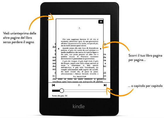 Kindle PaperWhite - cambio pagina