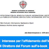 Sardegna: Bando per Direttore del Forum sull'ebook