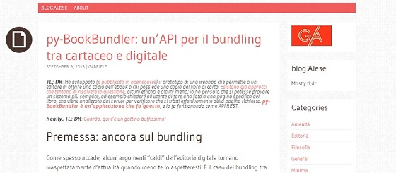 Il blog di Gabriele Alese