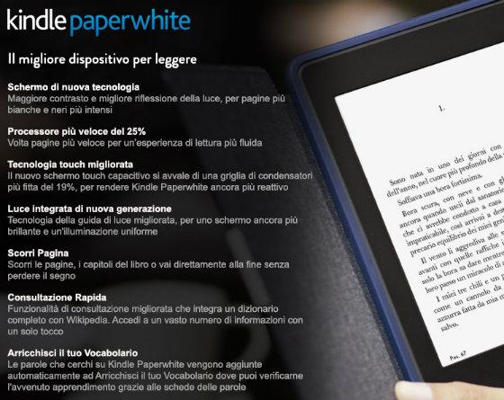Nuovo kindle paperwhite edizione 2013 acquistabile in italia