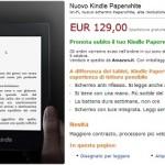 Il nuovo Kindle PaperWhite (modello 2013) è già prenotabile. Consegne da fine settembre.